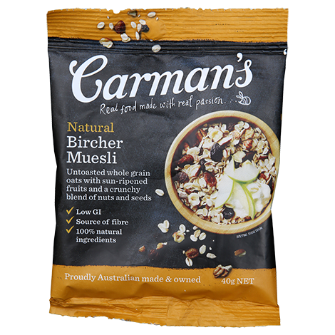 Natural Bircher Muesli Sachets 40g