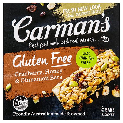 Gluten Free Cranberry, Honey & Cinnamon Bars