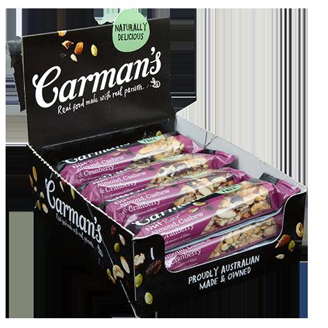 Almond, Cashew & Cranberry Nut Bars 45g