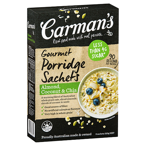 Almond, Coconut & Chia Gourmet Porridge Sachets