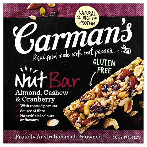 Almond, Cashew & Cranberry Nut Bars