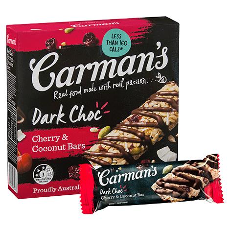 Dark Choc Cherry & Coconut Bars