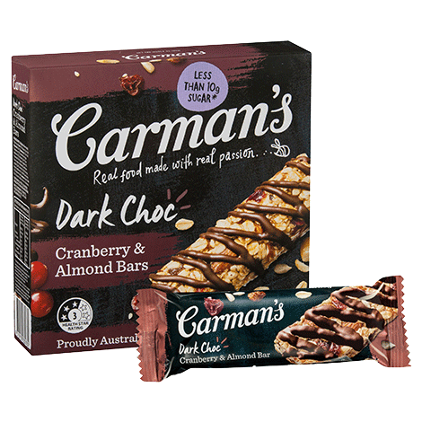Dark Choc, Cranberry & Almond Bars