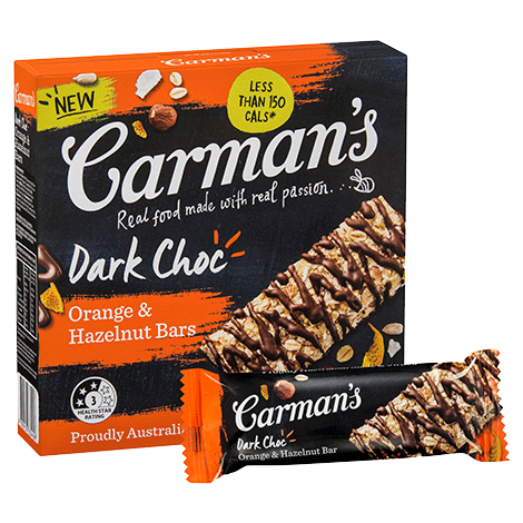 Dark Choc Orange & Hazelnut Bars