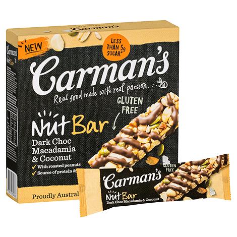 Dark Choc Macadamia & Coconut Nut Bars